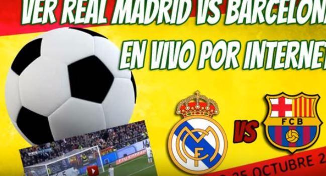 ver real madrid vs barcelona online en México sábado 21 de noviembre del 2015