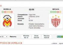 Morelia vs Necaxa hoy miércoles 3 febrero 2016