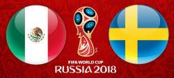 Juego de la tercera fecha del Mundial de Rusia 2018 para México vs Suecia